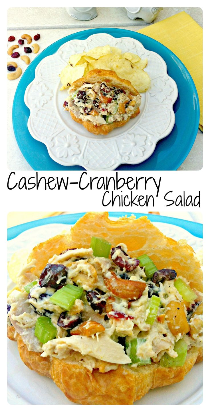 Cashew-Cranberry Chicken Salad ~ The Complete Savorist Easy to make to feed a crowd.