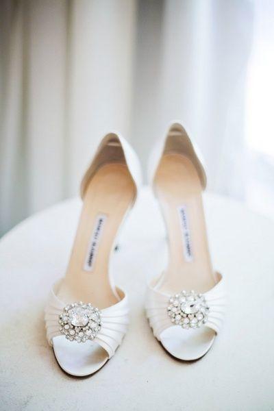 white manolo blahnik wedding shoes