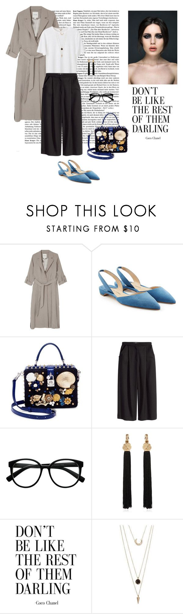 """Lovely May 17/05"" by dorey on Polyvore featuring Monki, Paul Andrew, Dolce&Gabbana, H&M, Retrò, Yves Saint Laurent and SUGARFIX by BaubleBar"