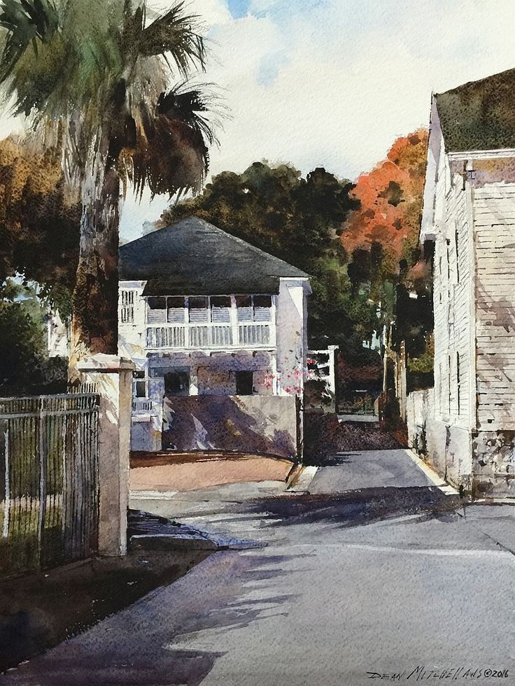 Charlotte Street Watercolor by Dean Mitchell St