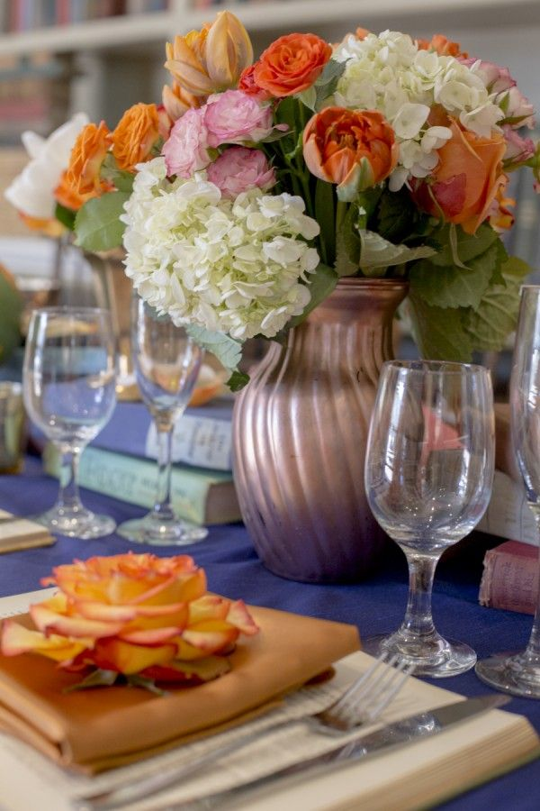 Wildflower_Linen_navy_blue_sapphire_table_linen_moha_photography