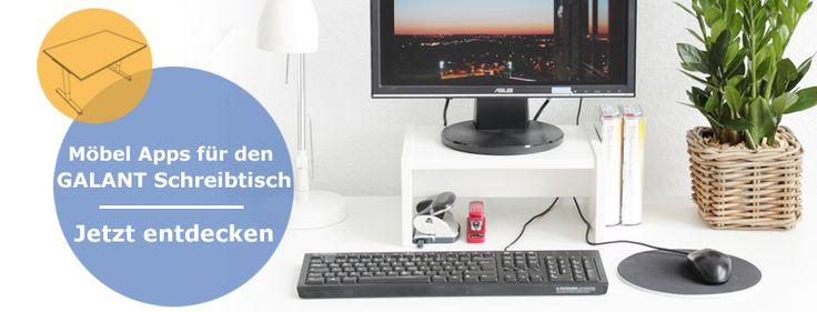 Schreibtischlösungen von New Swedish Design für den Galant Schreibtisch von Ikea