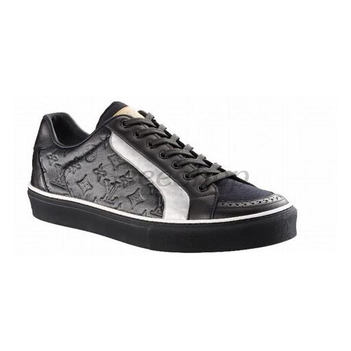 Louis Vuitton Shoes | Louis Vuitton LV Mens Shoes Sneakers Black Silver #LV2010