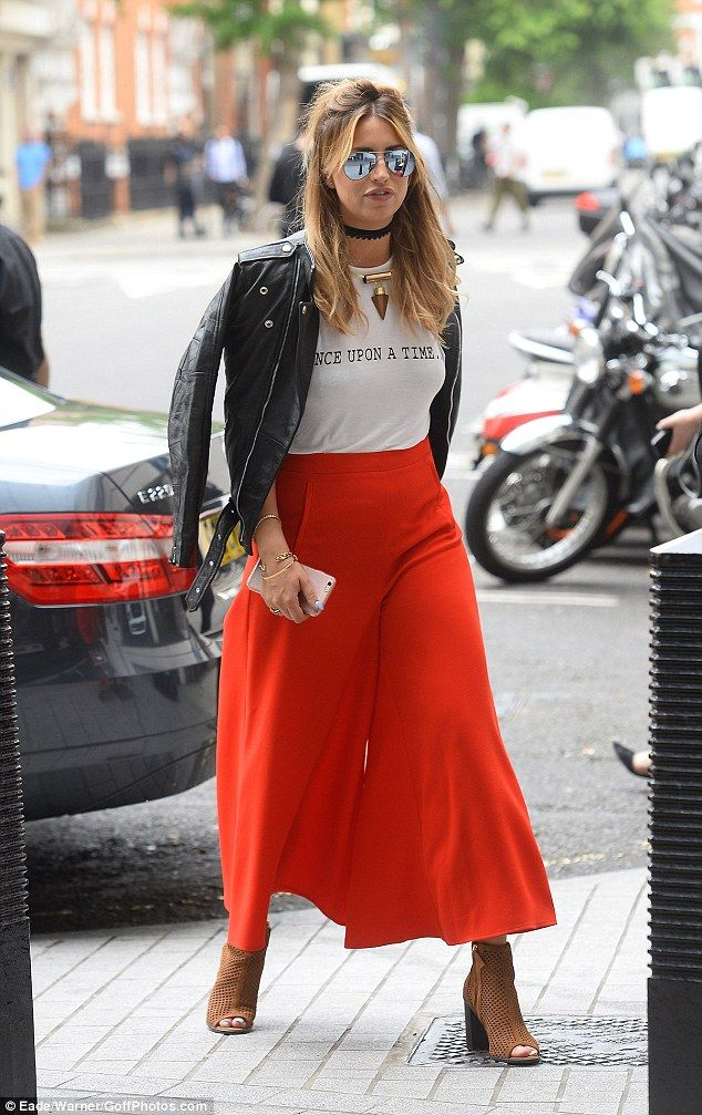 Dressed to impress: Former TOWIE star Ferne McCann was rocking a cool and casual look as s...
