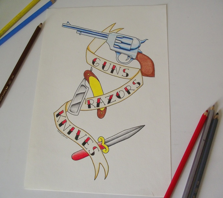 Guns! Razors! Knives!  by Debora Nunes