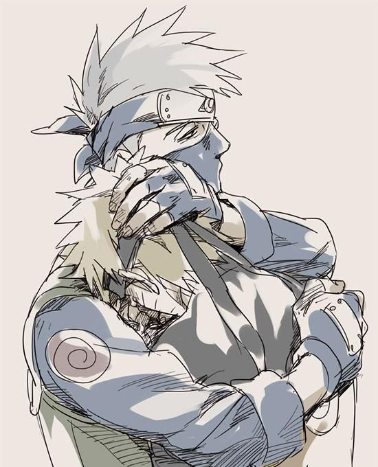 I could imagine this as when naruto was crying over jiraiya and kakashi finally showed a human side.