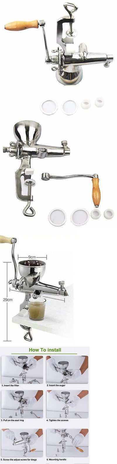 Juicers 20677: Stainless Steel Wheat Grass Hand Juicer Manual Juicer Wheatgrass Extractor -> BUY IT NOW ONLY: $74.05 on eBay!