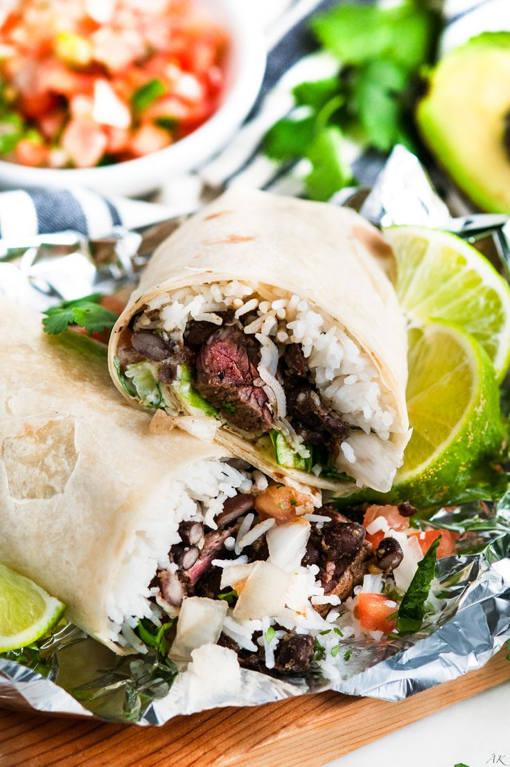 Copycat Chipotle Steak Burrito recipe - No need to rush off to Chipotle with a perfectly seasoned steak burrito right here!