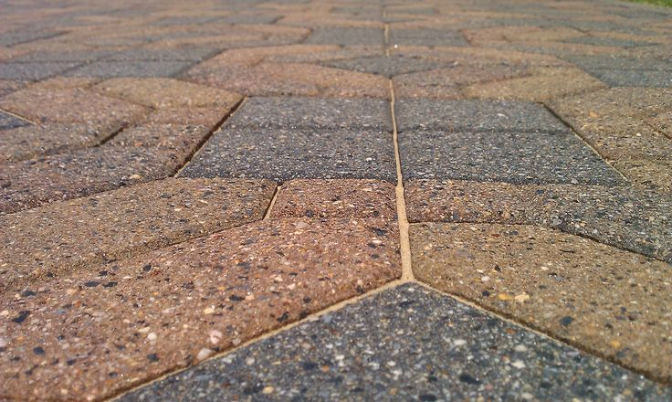 This is an example of a old paving stone that has been