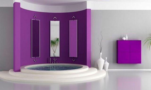 Dise o de vanguardia para este cuarto de ba o con jacuzzi incluido contraste de colores en el - Banos de contraste ...