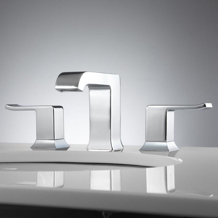 Delite Widespread Bathroom Faucet - Lever Handles - No Overflow - - Chrome