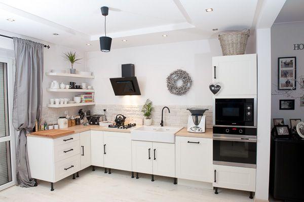 biel i szarość w kuchni