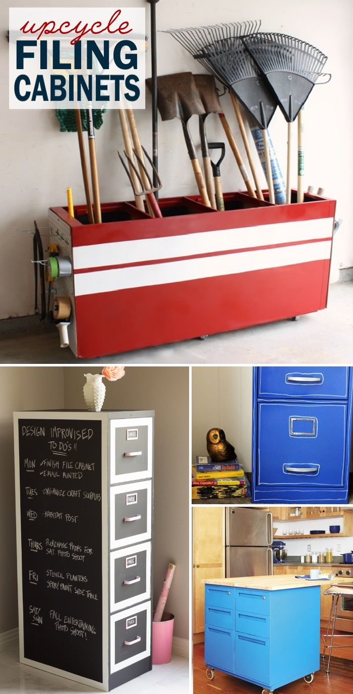 Genius! Don't throw away your old cabinets - I love repurposed furniture in our house. Here is a cabinet hack