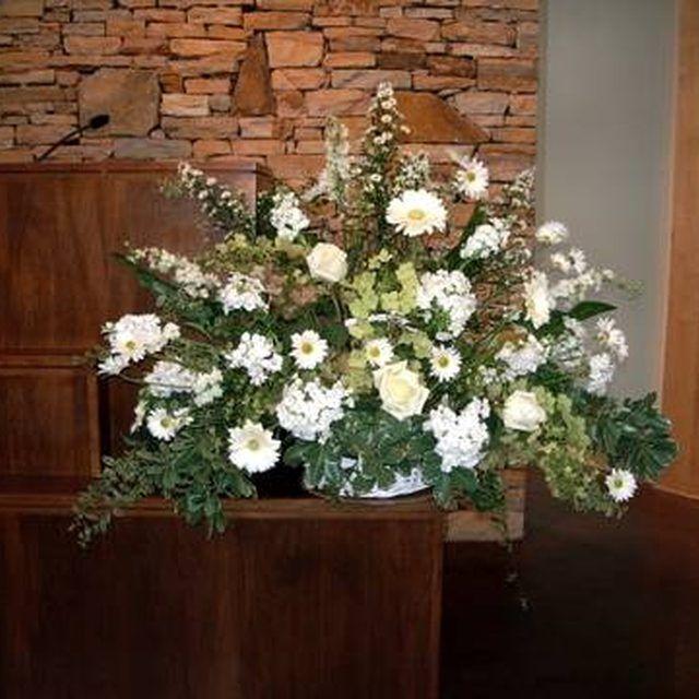 Flower Arrangement For Church Pulpit: 42 Best Podium/Stage Pieces & Plantscaping Images On