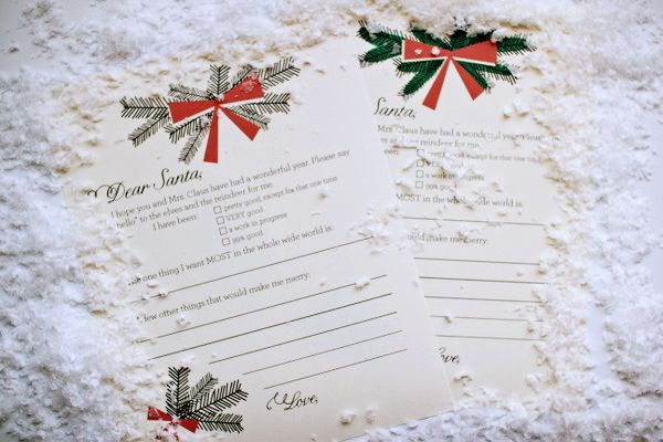 Printable holiday wish list via thesweetestoccasion
