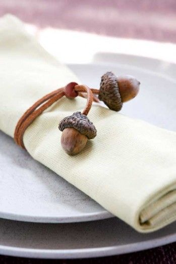 Simple Acorn Crafts | Make magnets and napkin rings with acorns in the fall when you can harvest some of New England's woodland bounty. By Caroline Woodward, Yankee Magazine.