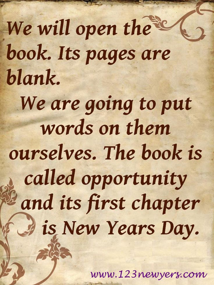 its pages are blank we are going to put words on them ourselves the book is called opportunity and its first chapter is new years day edith pierce