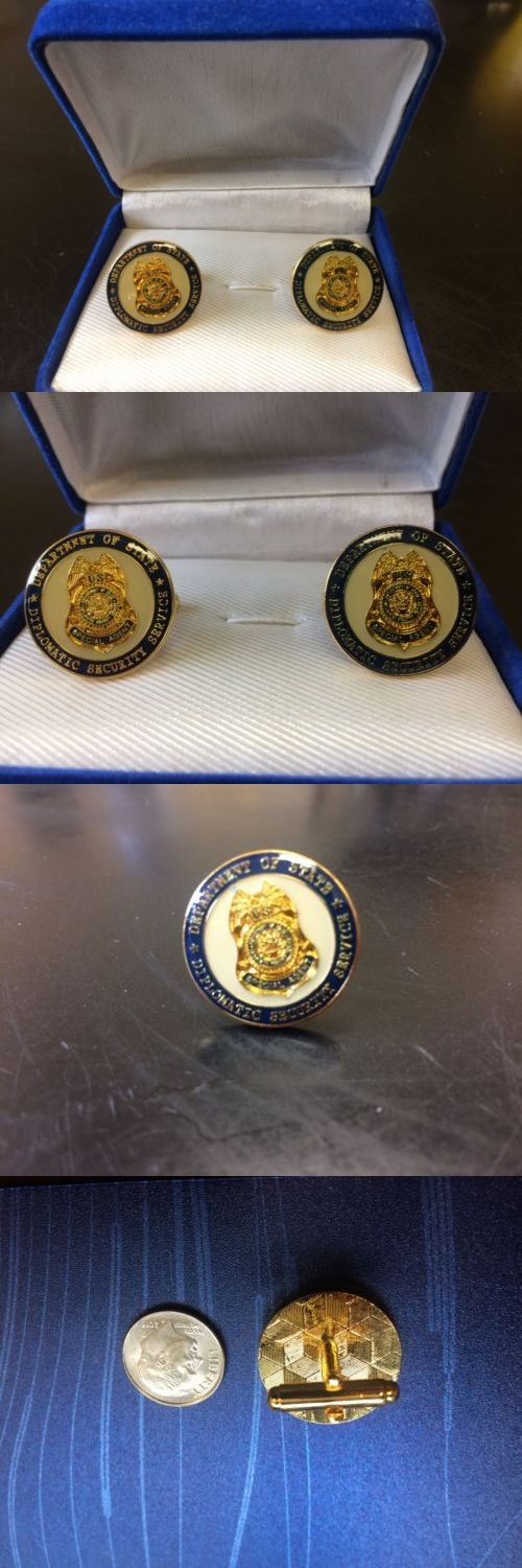 Cufflinks 137843: Authentic U.S. Diplomatic Security Service Agent Badge Official Cufflinks -> BUY IT NOW ONLY: $48.75 on eBay!