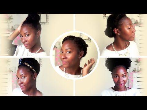 CHEVEUX FRISÉS ET CRÉPUS | 5 Coiffures Faciles et Rapides ✰ - YouTube - #cheveux #coiffures #crepus #faciles #frises