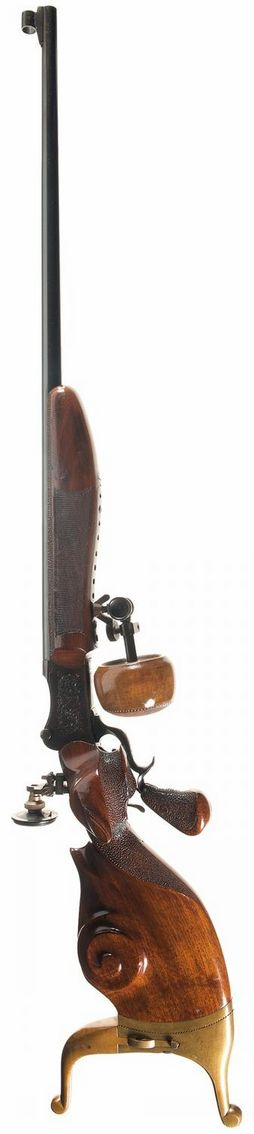 Custom Martini single shot target rifle, mid to late 19th century.