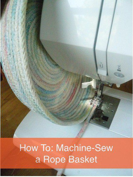 how to sew a rope basket using a sewing machine sew baskets and sewing. Black Bedroom Furniture Sets. Home Design Ideas