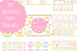 FREE HELLO KITTY PARTY and other party themes PRINTABLES