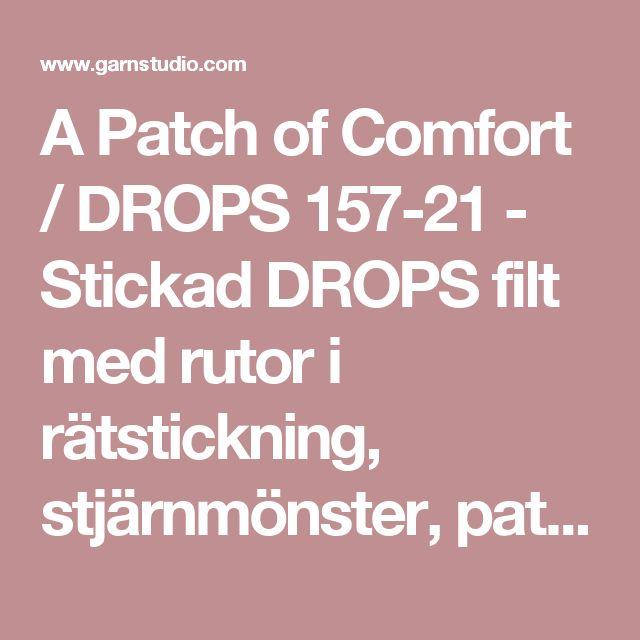 """A Patch of Comfort / DROPS 157-21 - Stickad DROPS filt med rutor i rätstickning, stjärnmönster, patent, ränder, våffelmönster och bambumönster i """"Nepal"""" - Gratis mönster från DROPS Design"""