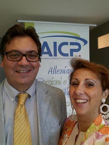 Barbara & Marcello presenti a Milano ad un convegno di Associazione Italiana Coach Professionisti.