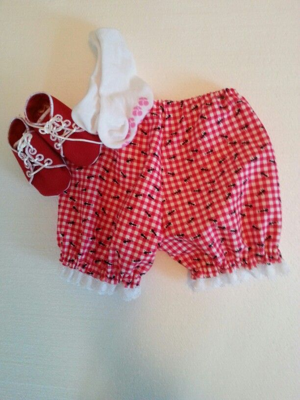 Bloomers for a baby girl. Look at the cute small ants!