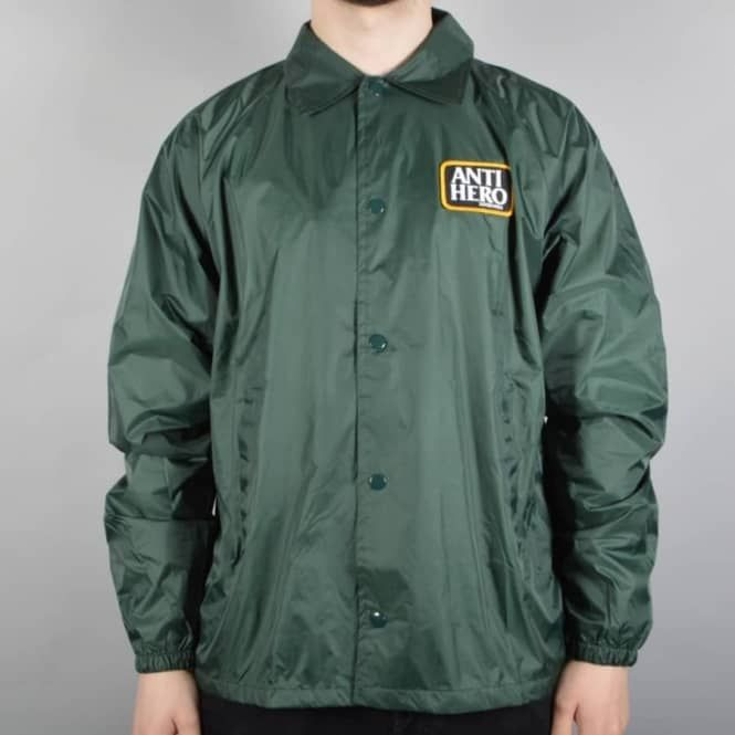 Antihero Skateboards Reserve Patch Coaches Jacket - Dark Green - SKATE CLOTHING from Native Skate Store UK