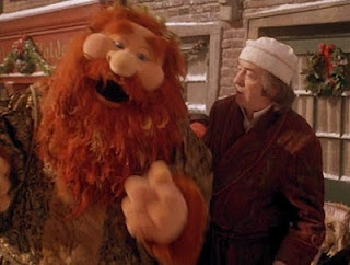 The ghost of Christmas Present & Scrooge (Michael Caine) in The Muppet Christmas Carol: Fav Ghosts, Favorite Christmas, Christmas Presents, Calendar Christmas, Christmas Movie, Christmas Boards, Favorite Movie, Christmas Carol, Christmas Week