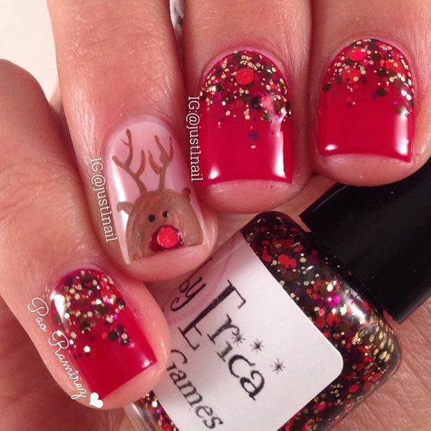51 Christmas Nail Art Designs & Ideas for 2018 – cool nail designs