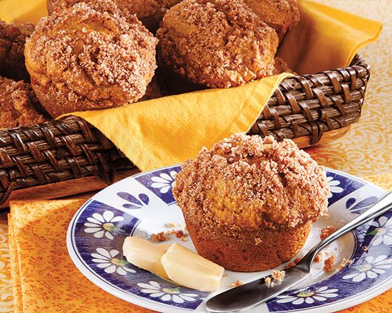 Pumpkin Streusel Muffins - Recipes at Penzeys Spices.     Replace egg with Ener-g & simmer 2 cups of soy/rice milk on medium high heat til it is reduced by 60% for evaporated milk