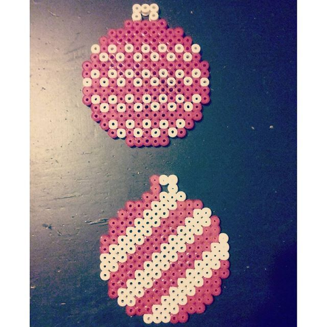 Christmas baubles perler beads by mikkacarlsson