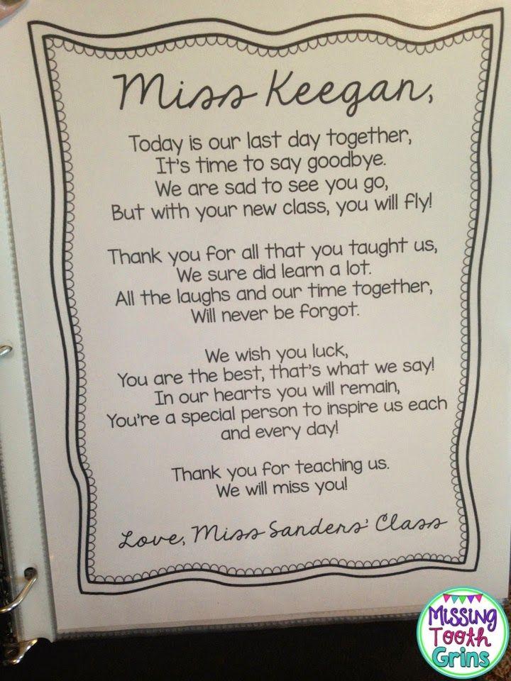 The Primary Pack: Student Teacher Goodbye Gift