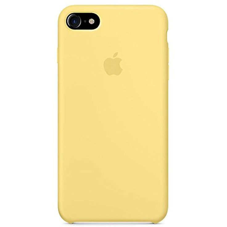 Imshell Soft Apple Silicone Case Cover for Apple iPhone 7 (4.7inch) Boxed- Retail (Yellow) -- Details can be found by clicking on the image. (This is an affiliate link)