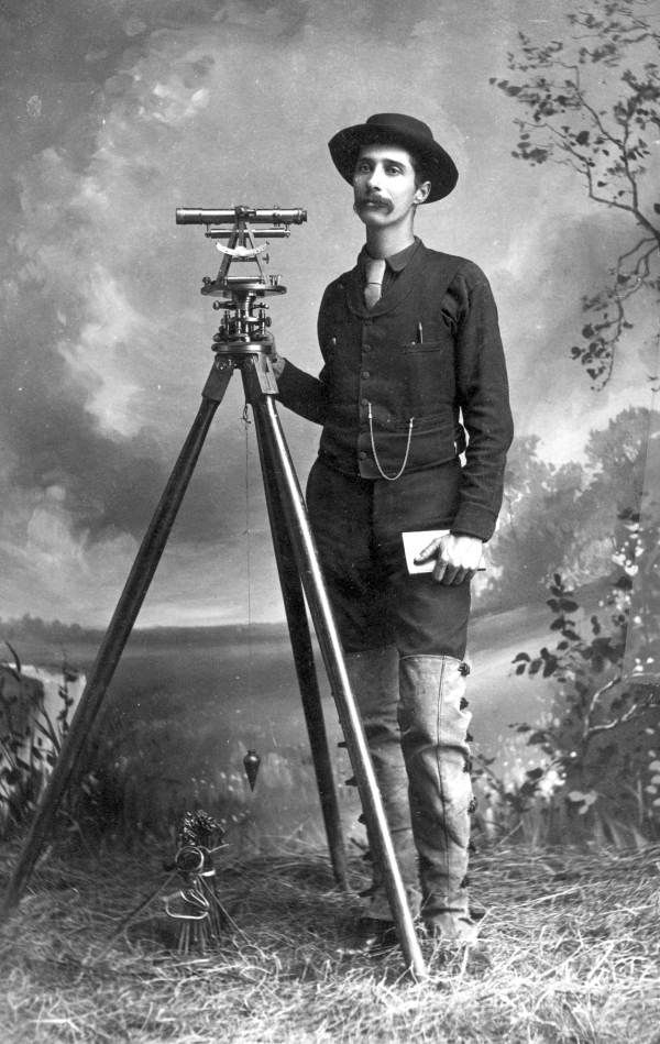 All sizes | Overton Bernard with surveying equipment | Flickr - Photo Sharing!