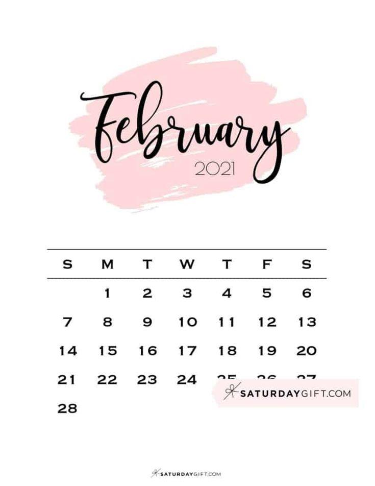 Cute Free Printable February 2022 Calendar Saturdaygift Printable Calendar Template Calendar Template February Calendar