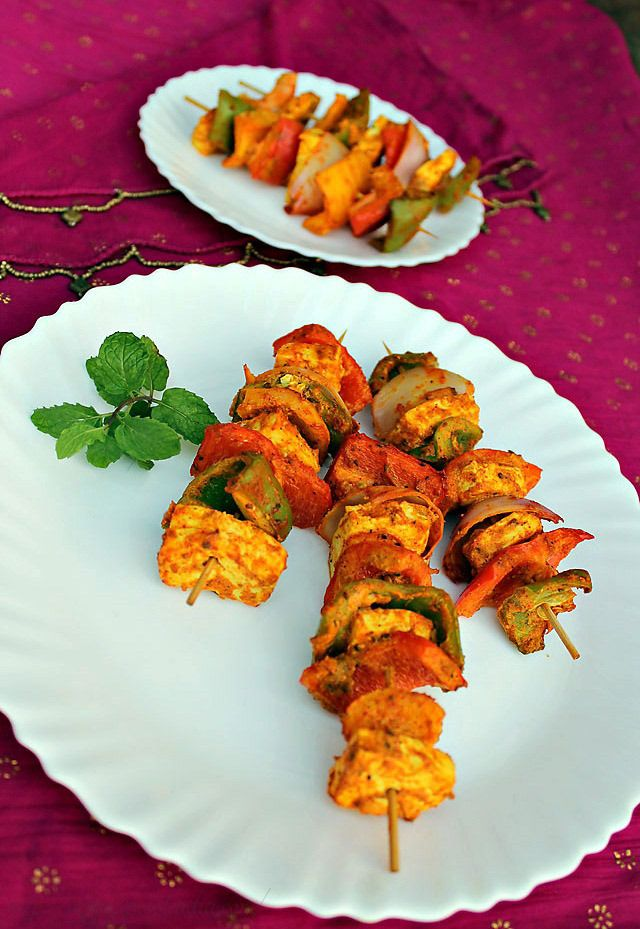 paneer tikka, how to make paneer tikka recipe | paneer tikka in oven