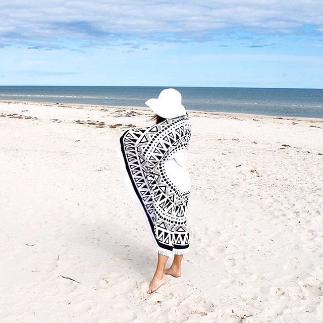 The Peyton #roundtowel all wrapped up in beach life