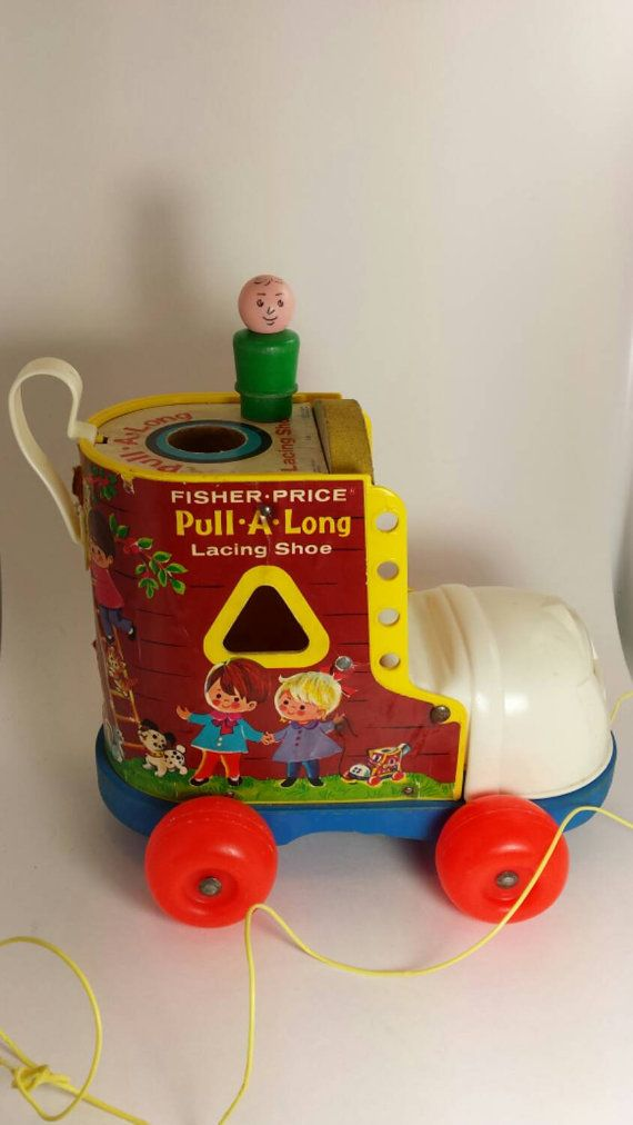 1970 Fisher Price Vintage Pull Toy with original by VintageToyNerd