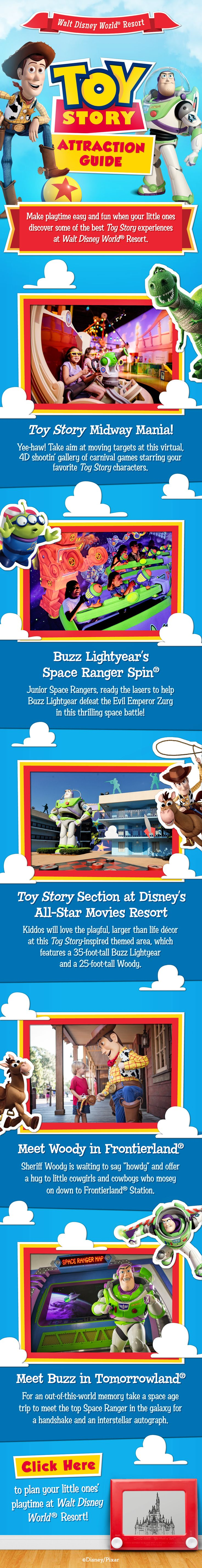Learn about Toy Story experiences for your little ones at during your Walt Disney World vacation!