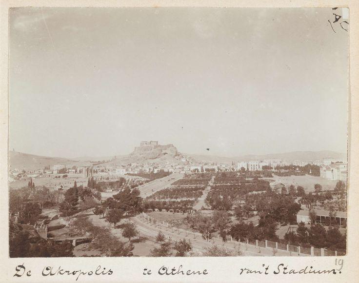 L. Heldring | Gezicht op de Akropolis in Athene, Griekenland, L. Heldring, 1898 |