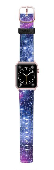 Casetify Apple Watch Band (42mm) Saffiano Leather Watch Band - Galaxy Stars  by Organic Saturation