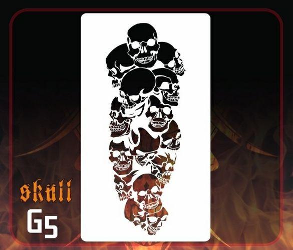 CAS Professional Airbrush Stencil - Skull Group 5 - 'Skull Tower'