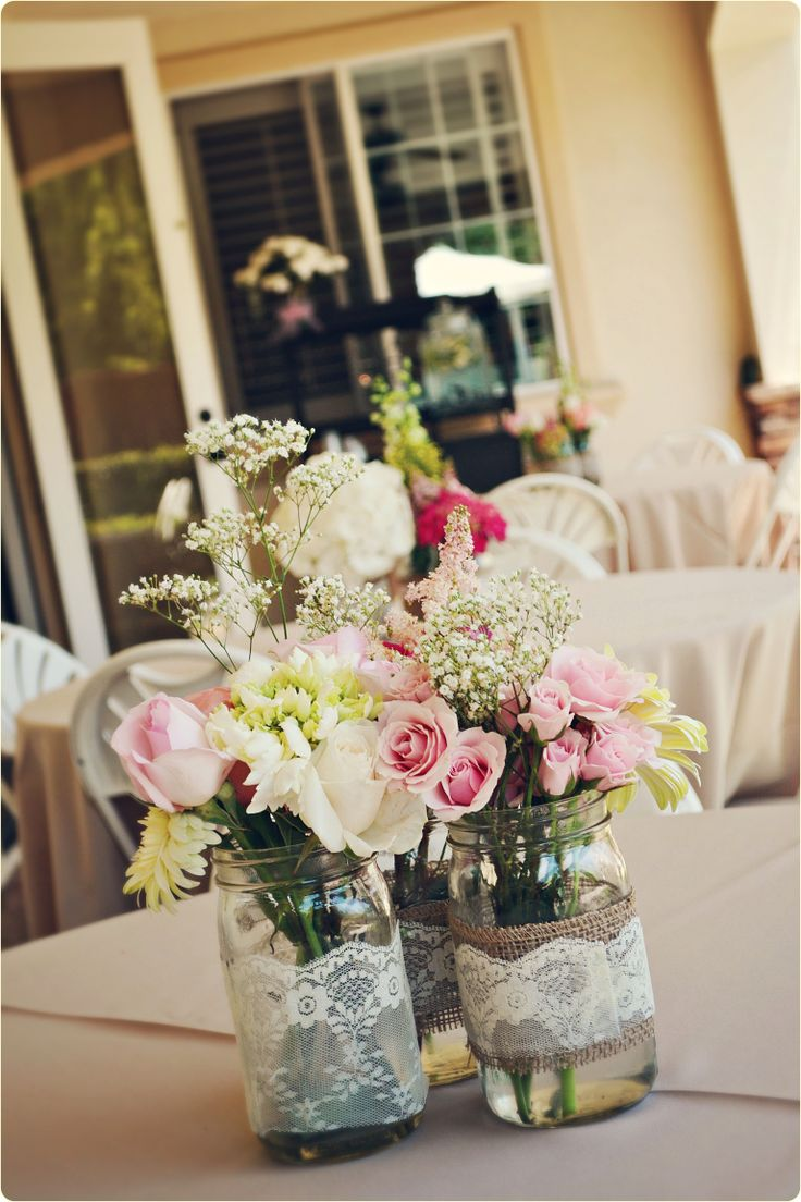 Lauren's baby shower centerpieces