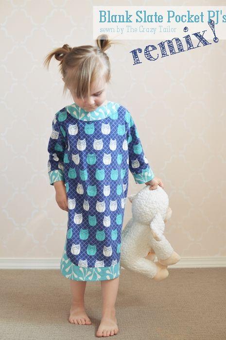 Pocket Pjs Remix - pattern by Blank Slate Patterns, sewn by The Crazy Tailor