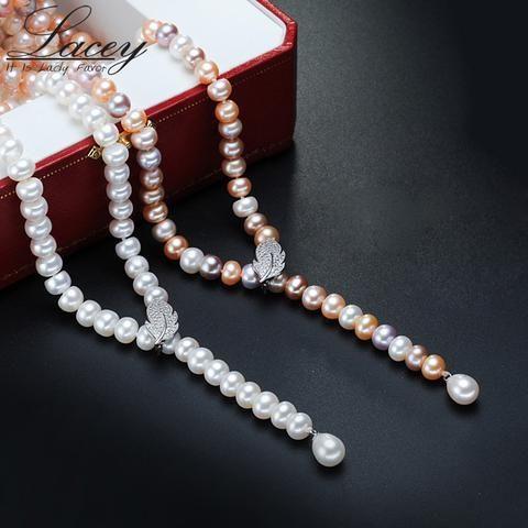 prodotto caldo dettagli per Cheaper EBay] 100% Genuine Fashion Pearl Necklace Natural Freshwater Pearl ...
