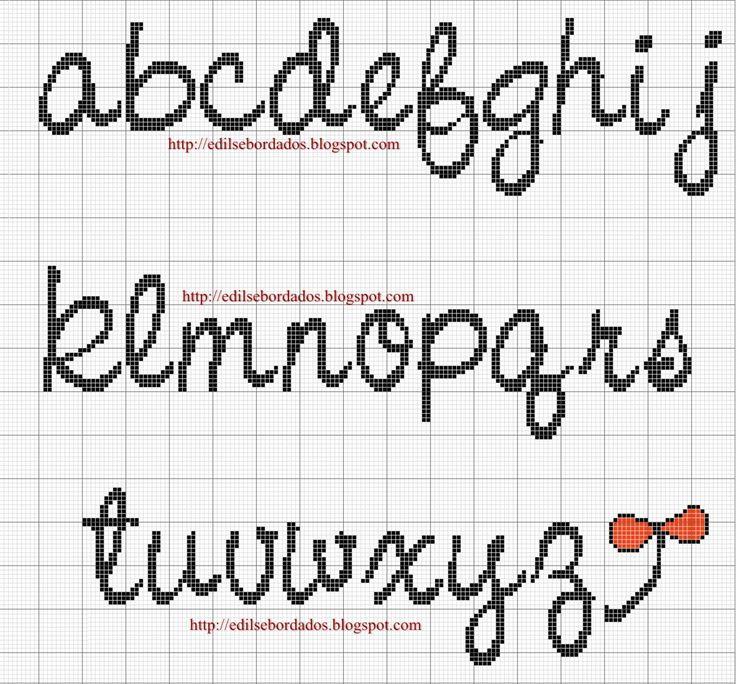 lettere in corsivo punto croce alfabeto