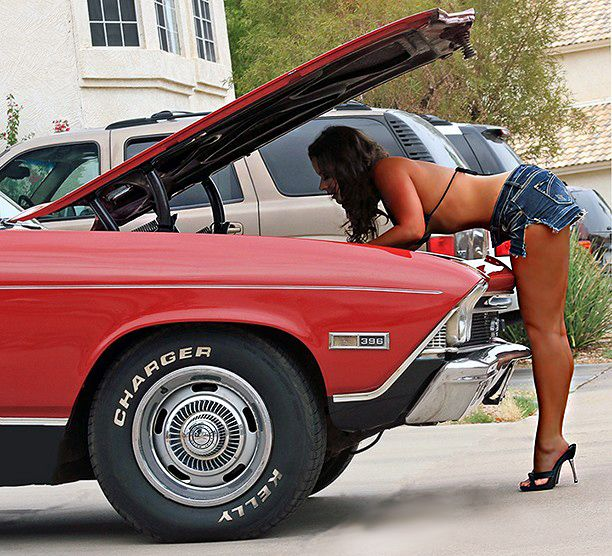 Ladies Posing With Cars .. Can We If We Don't Get